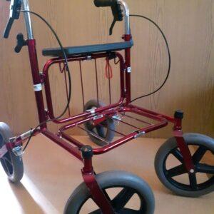 Ходунки на колесах. Роллер (роллатор) алюминиевый с большими колесами до 150 кг